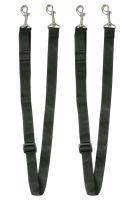 Paar Beinschnüre schwarz