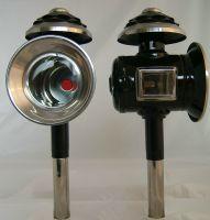 Kutschlampen schwarz/Chrom