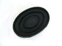 Gummistriegel schwarz