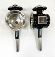Kutschlampen schwarz/chrom 15,5x40cm Paar