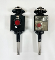 Kutschlampen Schwarz/Chrom 46x12,5cm Paar