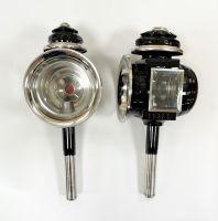 Kutschlampen schwarz/chrom 17x44cm Paar