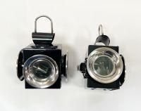 Kutschlampen Spezial schwarz/chrom 11,5x27cm Paar