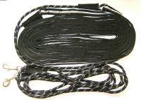 QHP Doppellonge, schwarz/grau