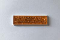 Reflektor, 4eckig, orange, selbstklebend, klein