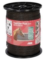 AKO TopLine Plus Weidezaunband 200m/40mm braun